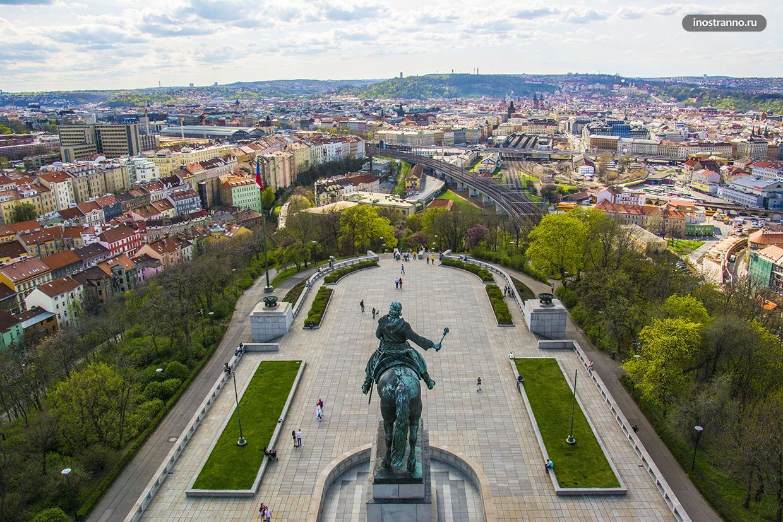 Смотровая площадка в Праге на холме Витков