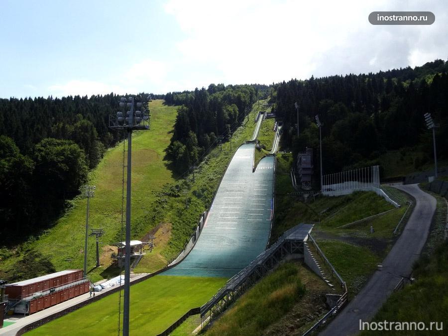 лыжный трамплин в Чехии