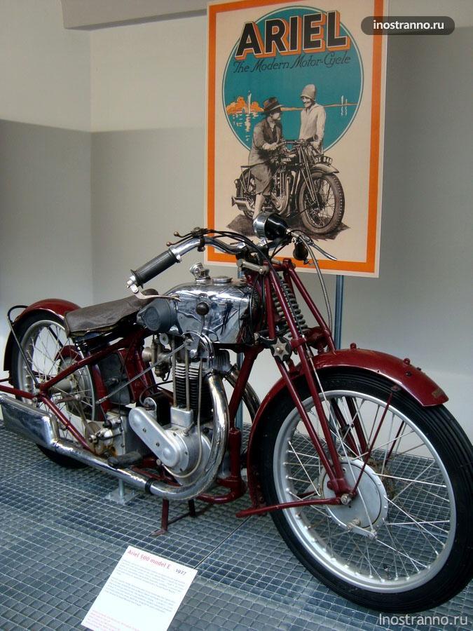 Английский мотоцикл Ariel 500 E