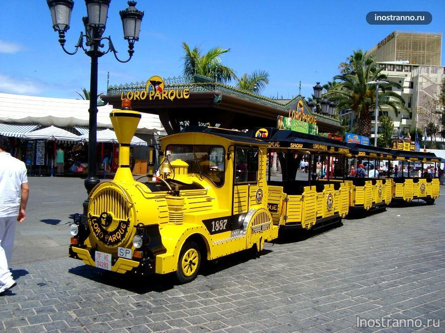паровозик-трансфер до лоро парка