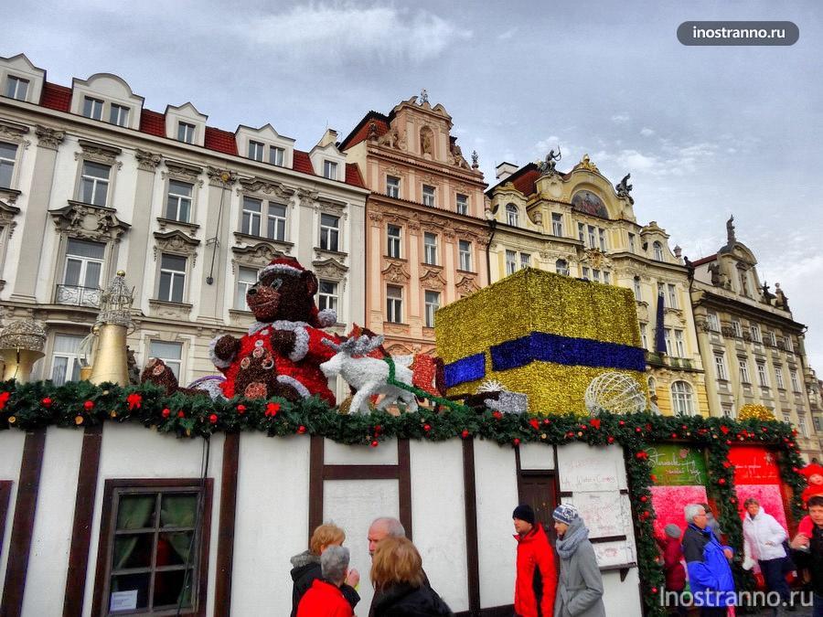 наряженная Прага на Новый год
