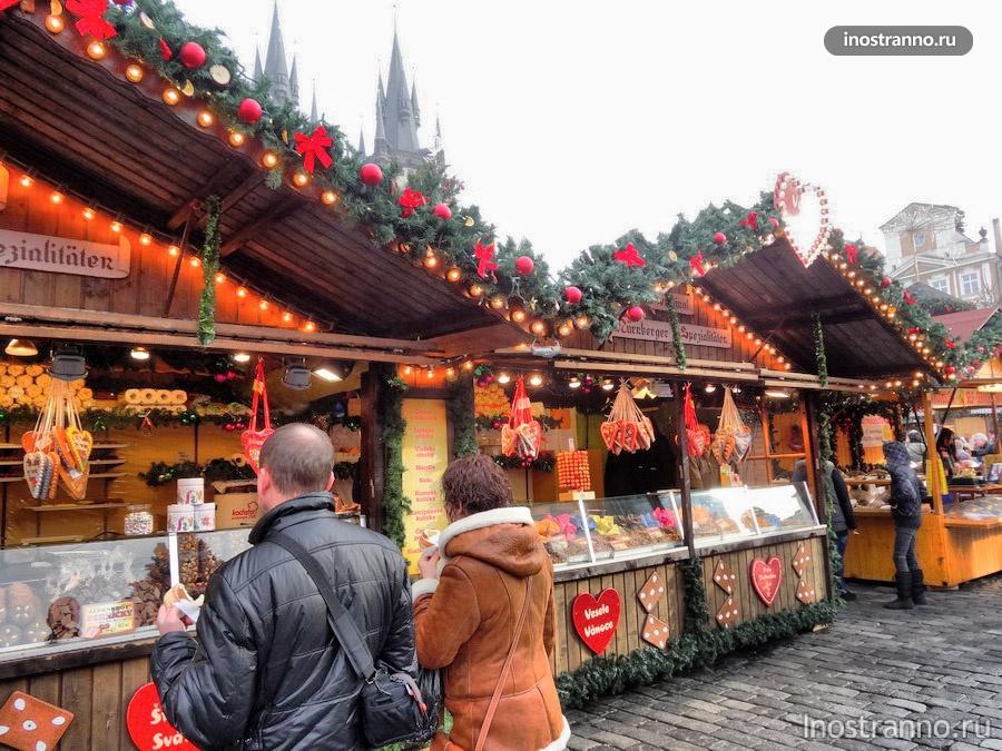 пряники на Рождественском рынке в Праге