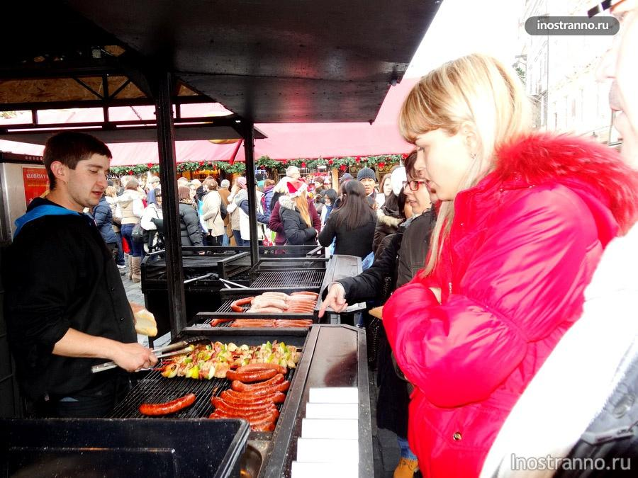 чешская кухня - Вацлавская колбаска
