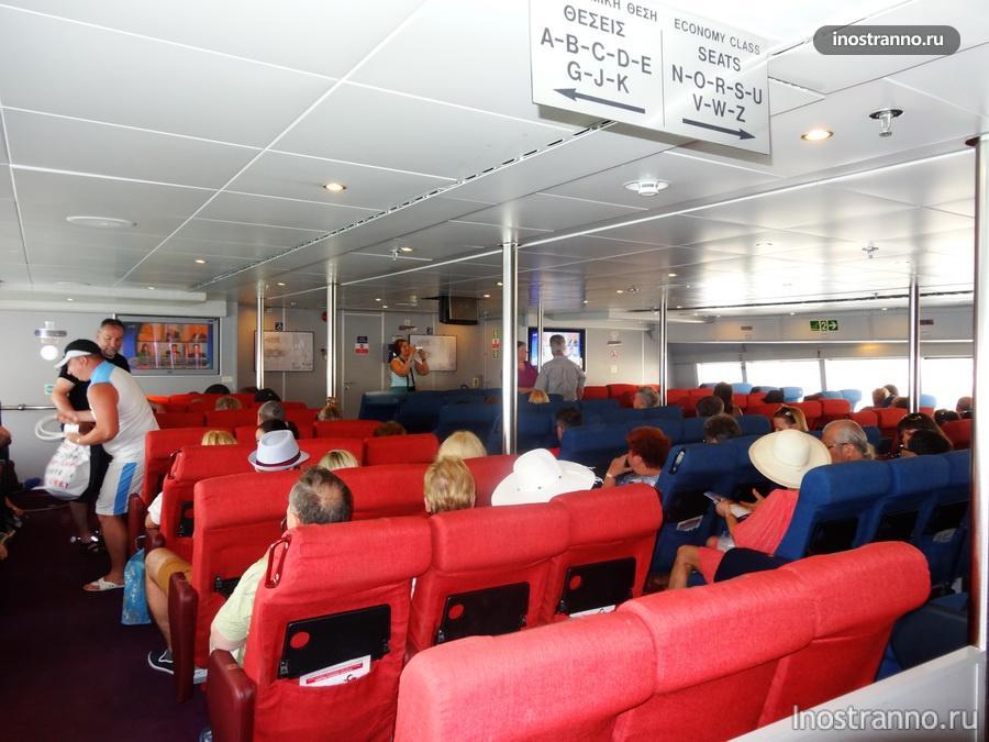 скоростной катамаран до Санторини