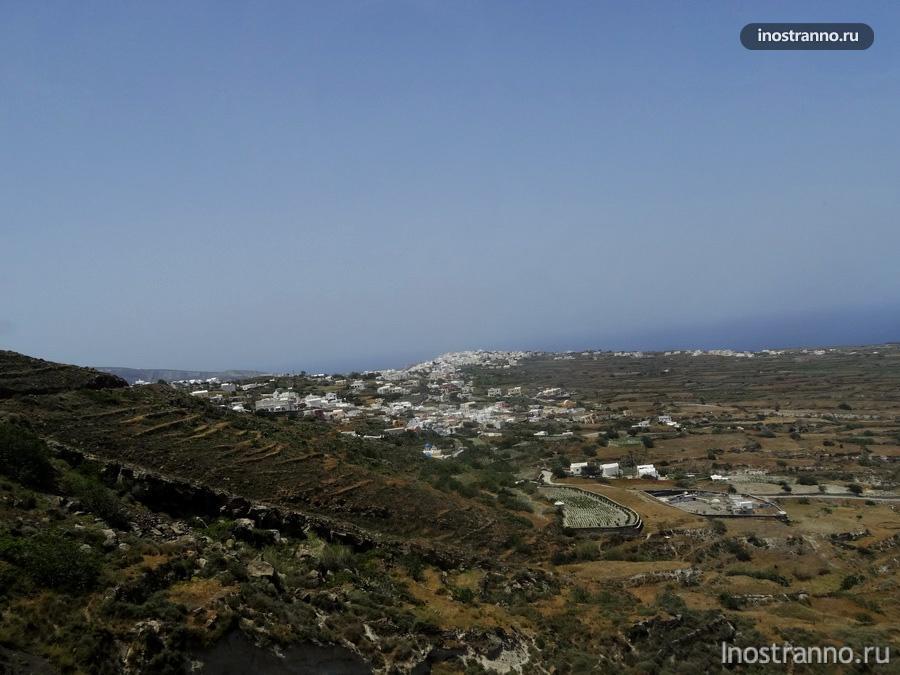 пейзаж острова Санторини