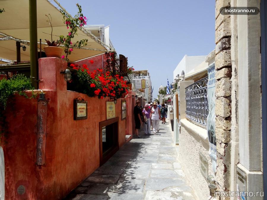 улочки Санторини