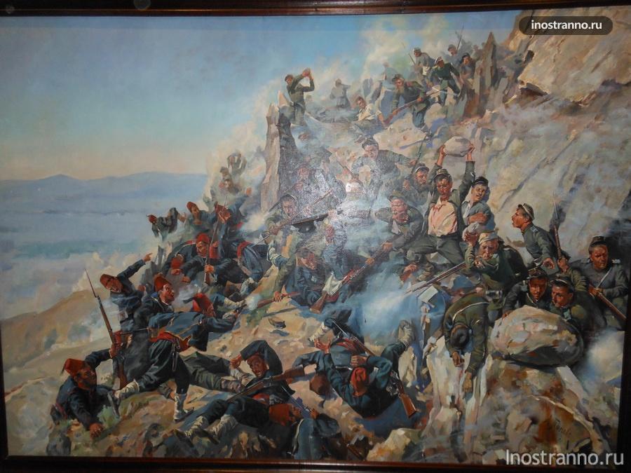 картина в музее на Шипке в Болгарии