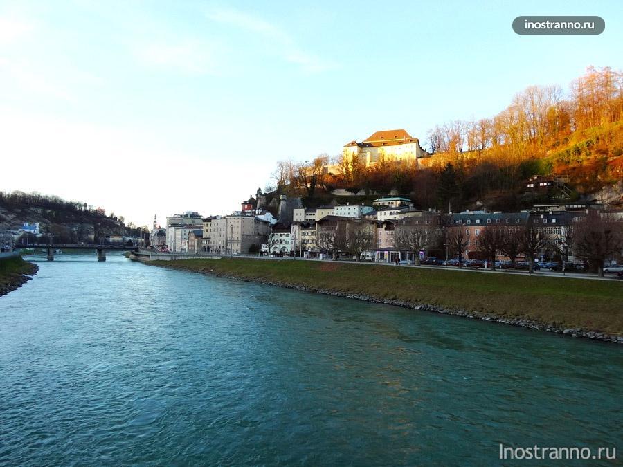 фото реки Зальцах в Зальцбурге