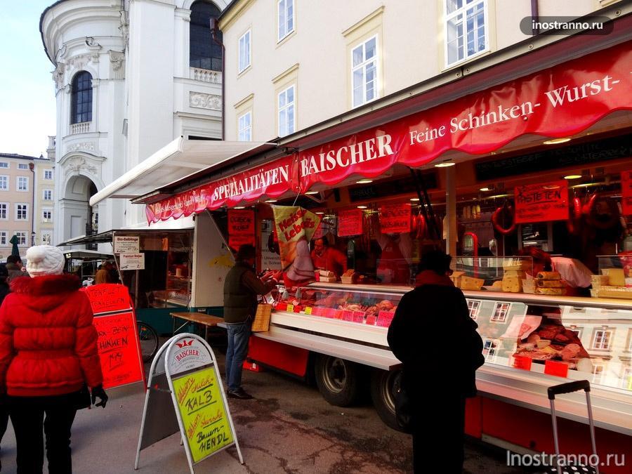 рождественский рынок в Зальцбурге
