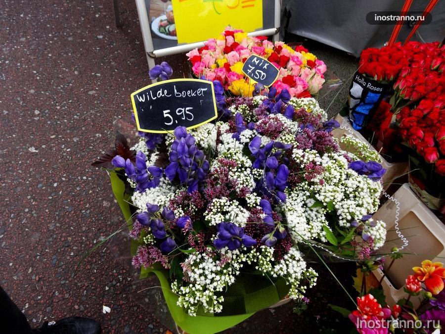 цветы на рынке в Голландии
