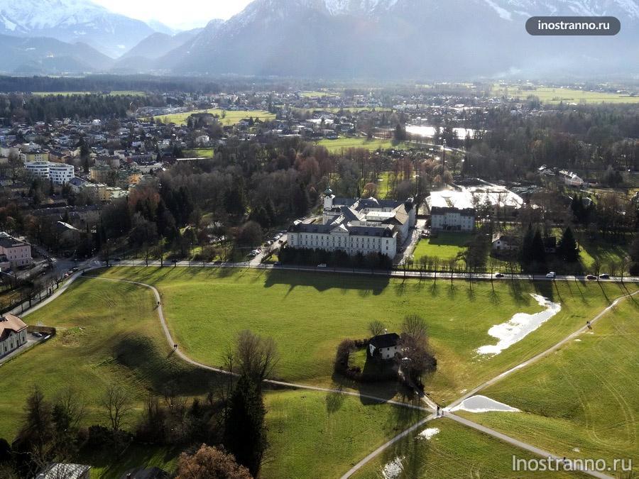 вид на горы в австрии