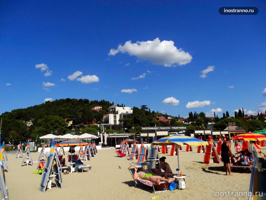 пляж и отели - Порторож