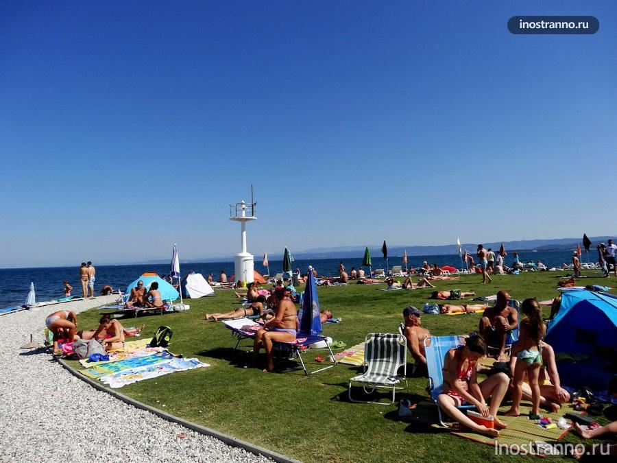 пляж на Адриатическом море