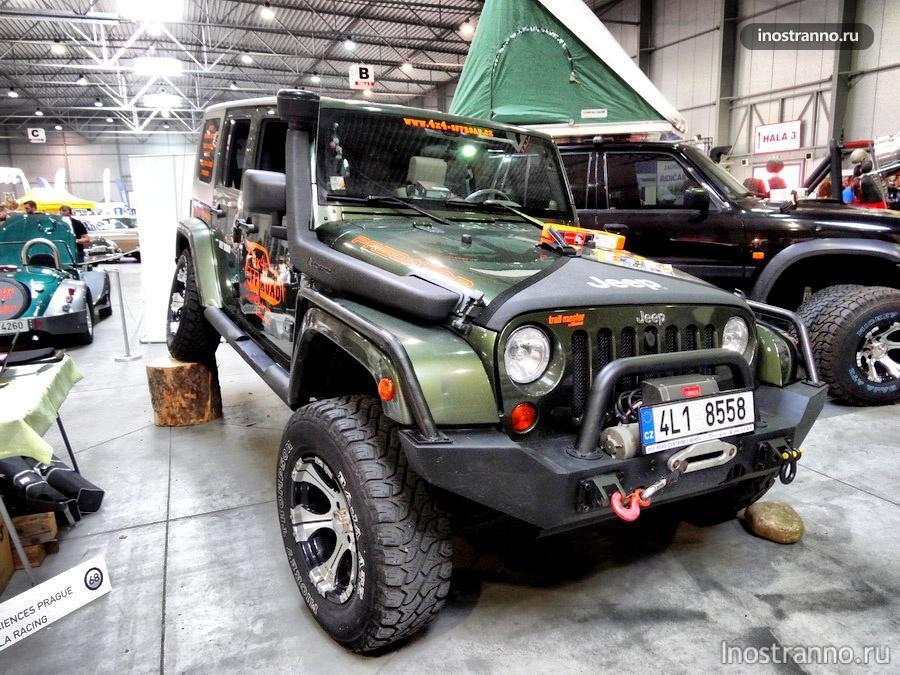 Jeep Wrangler на выставке