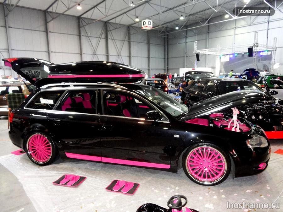 тюнинг машины - розовые диски