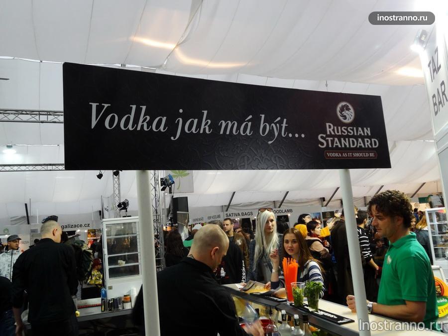 русская водка на выставке