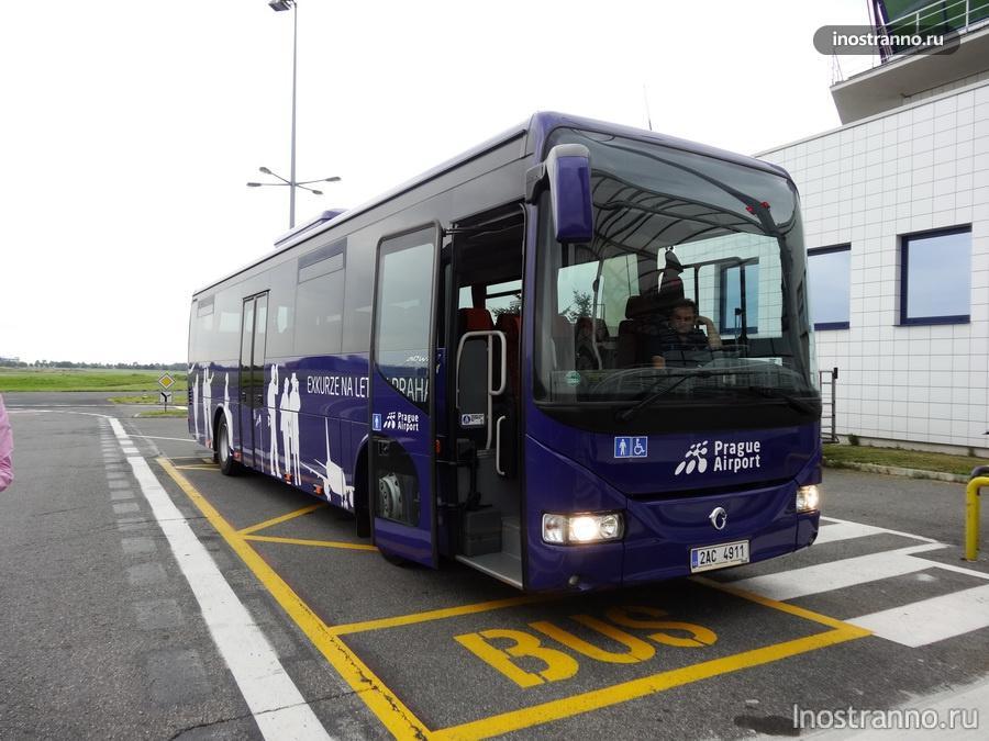 экскурсионный автобус аэропорт Праги