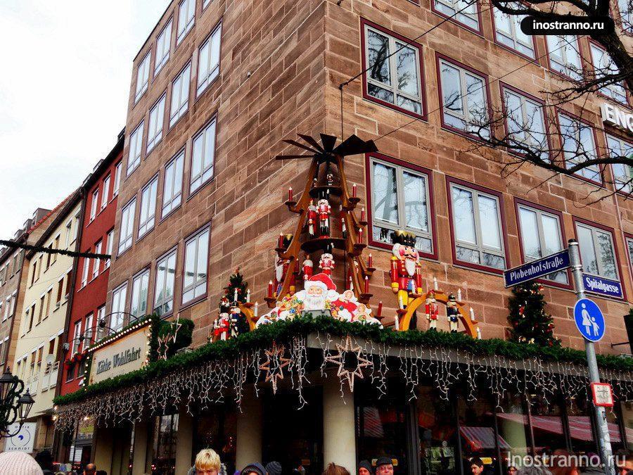 рождественские украшения европа