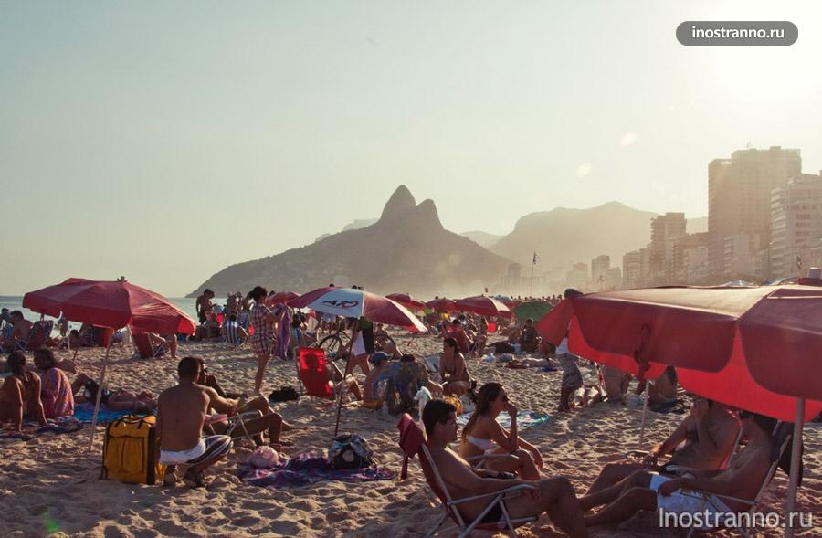 пляж ипанема рио бразилия
