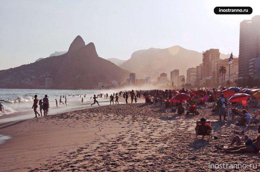 ипанема пляж рио-де-жанейро