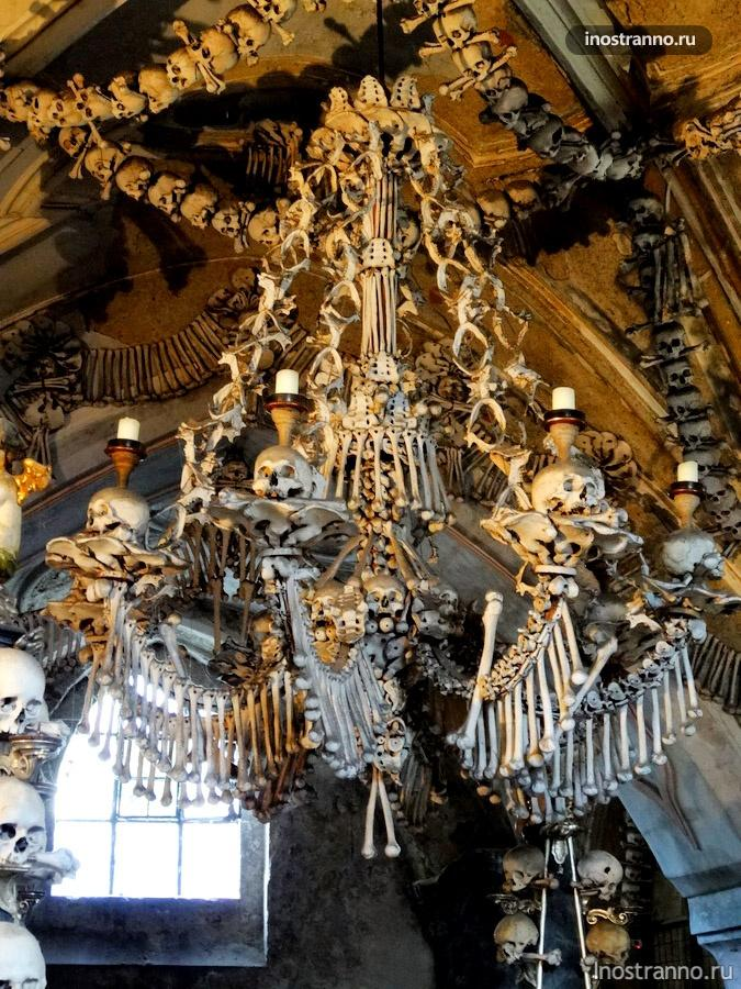 кутна гора костница - люстра из костей