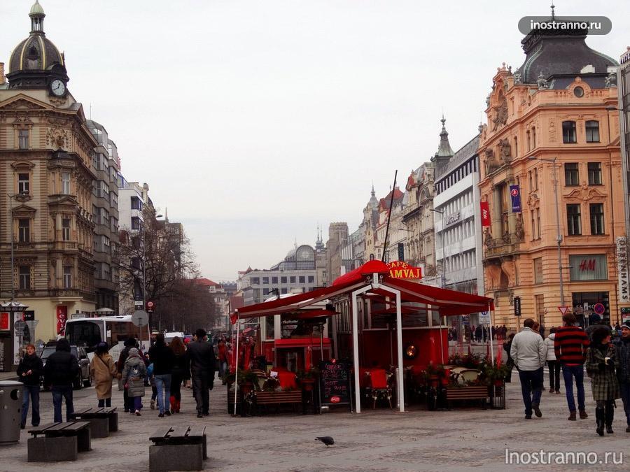 кафе трамвай на Вацлавской площади