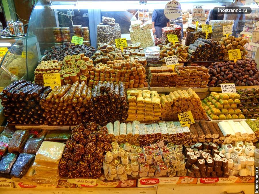 Лукум на Гранд базаре в Стамбуле