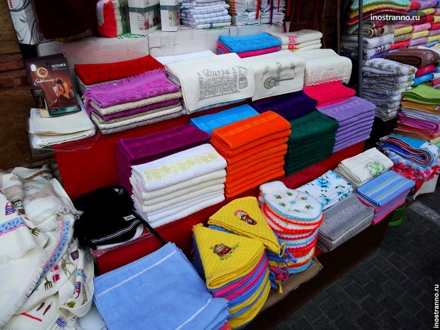 полотенца на рынке бурсы
