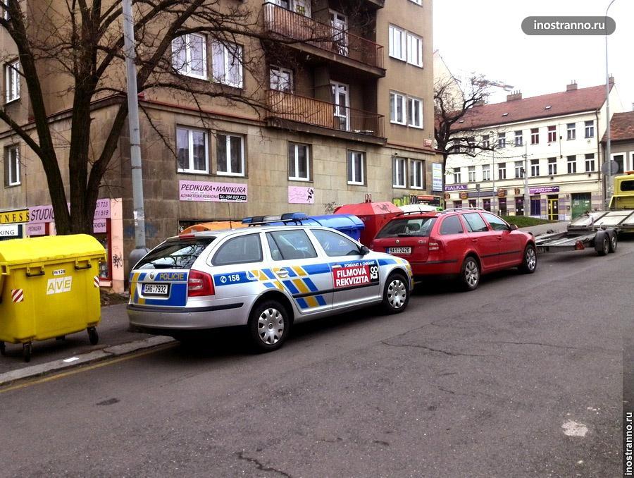 Автомобиль чешской полиции