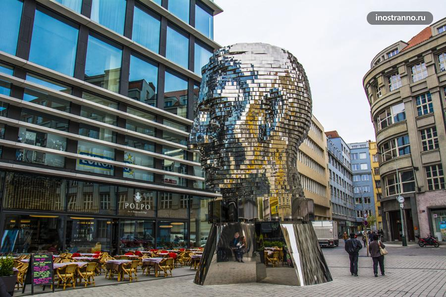 Скульптура Голова Франца Кафки в Праге