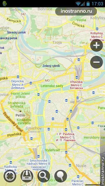 Бесплатные карты Maps With Me
