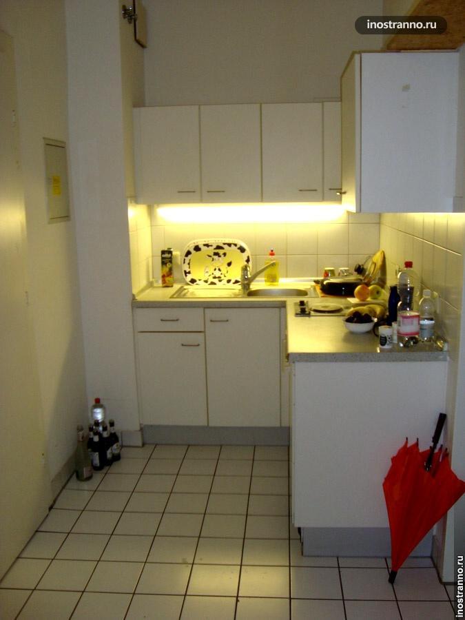 кухня в немецком общежитии