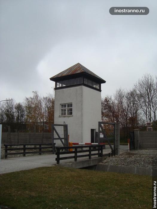 Смотровая вышка в концентрационном лагере