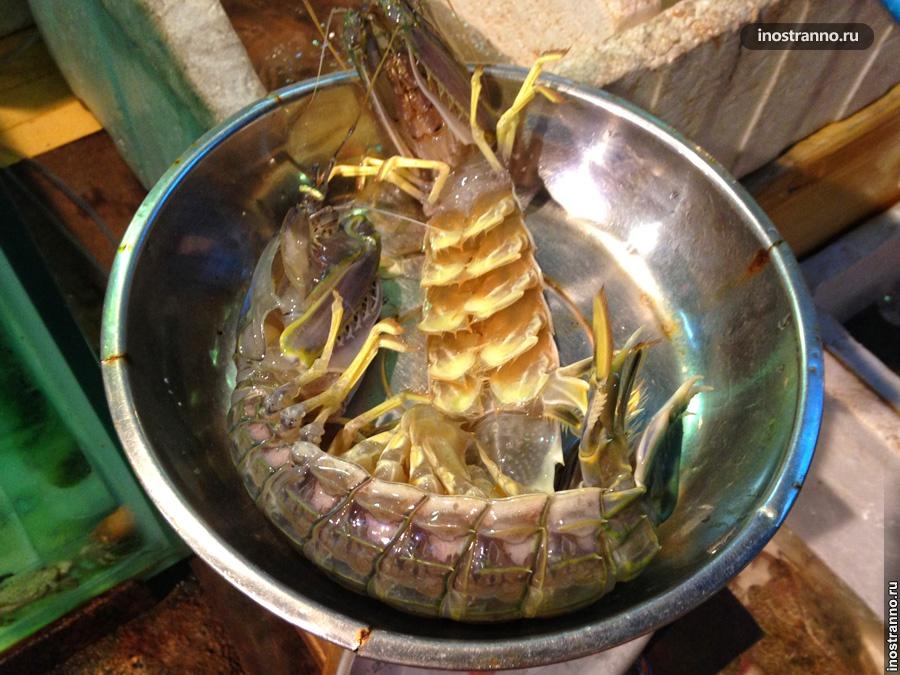 лобстеры морепродукты тайланд