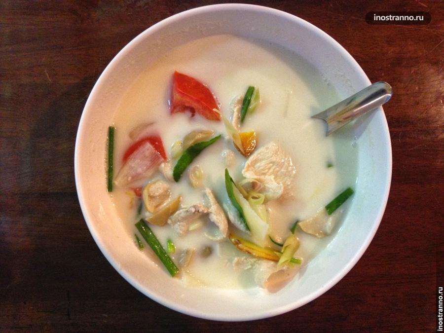 тайский суп том кха кай