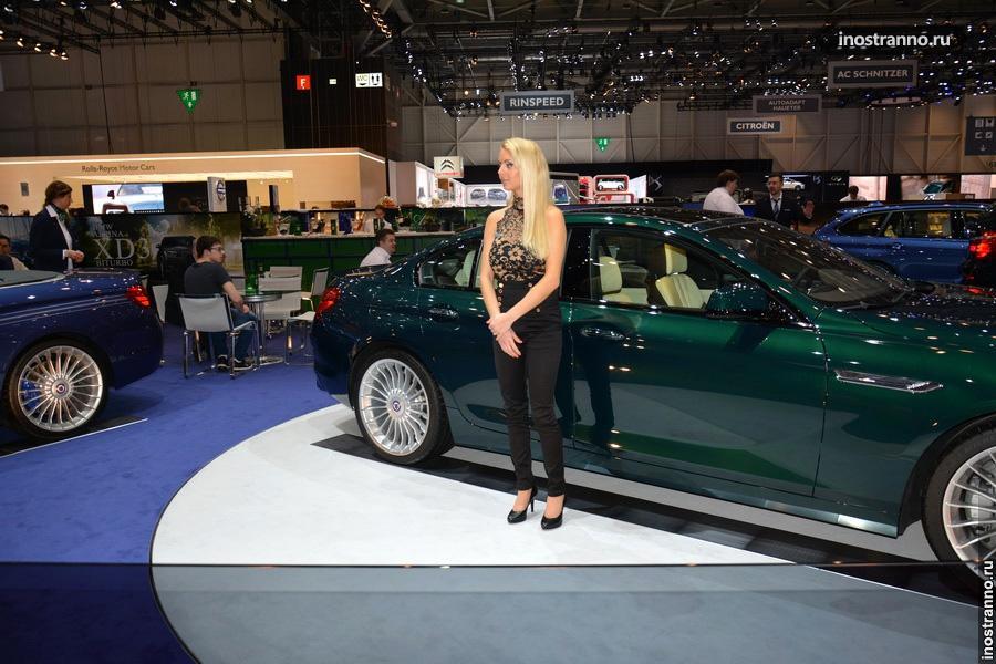 Модели на автосалоне в Женеве