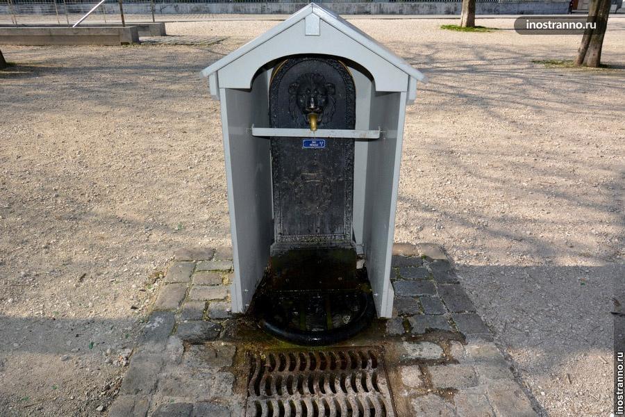 фонтан с питьевой водой в женеве