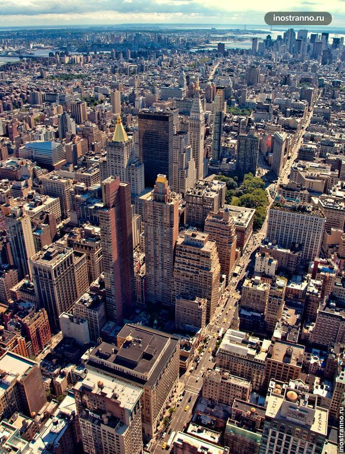 нью-йорк с эмпайр-стейт-билдинг