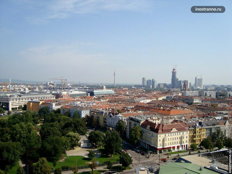 Дунайская башня в Вене