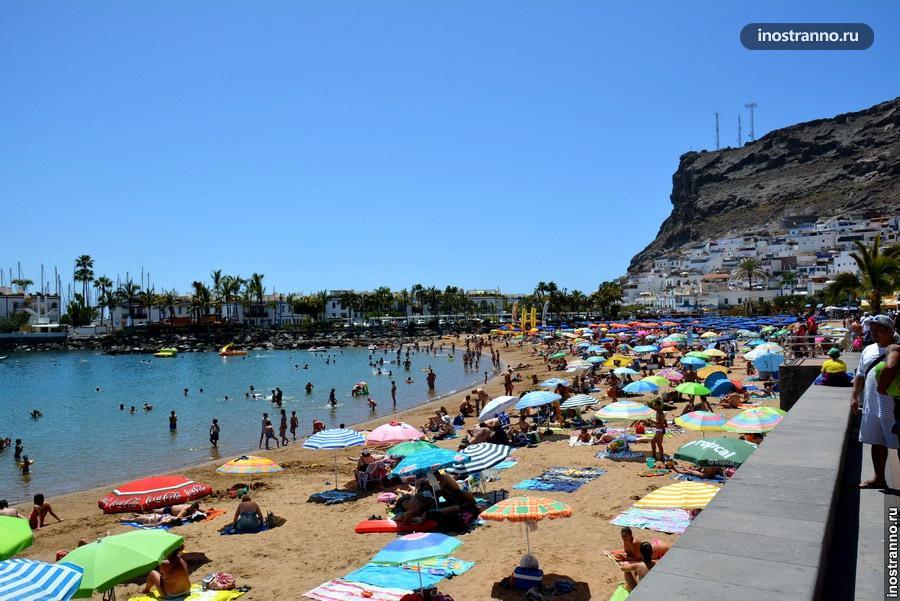 Пляж на Гран Канария в Пуэрто де Моган