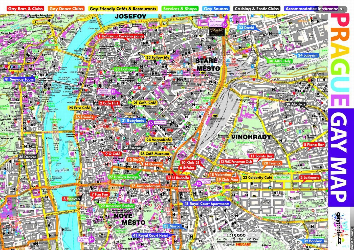 Карта гей праги