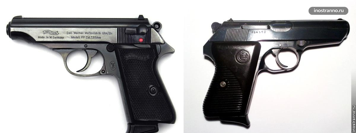 Пистолет CZ 50 и Вальтер