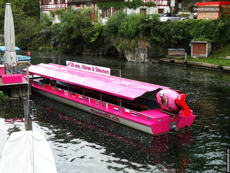 Прогулочная лодка - Рейнский водопад