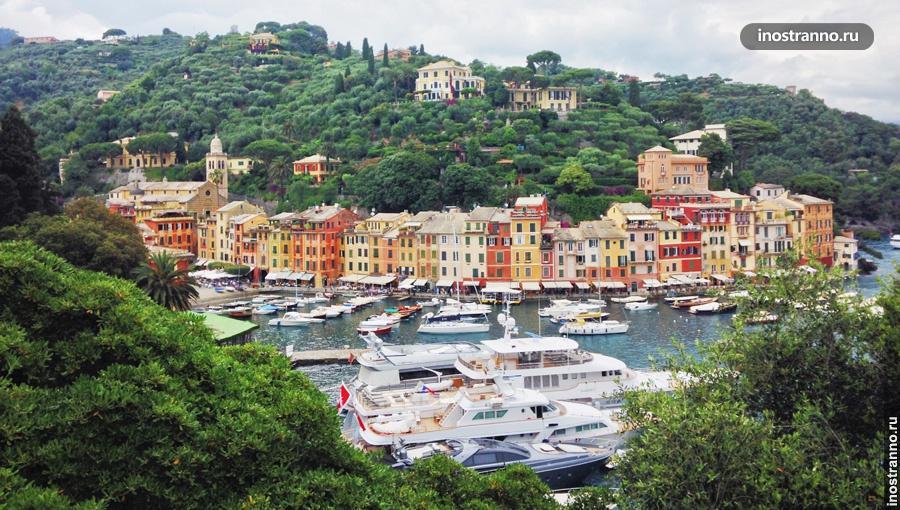 Панорама Портофино Италия смотровая площадка