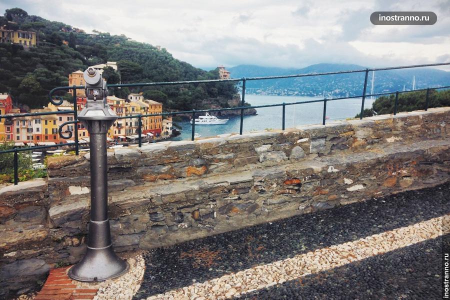 Вид на город Портофино Лигурия Инстаграм место