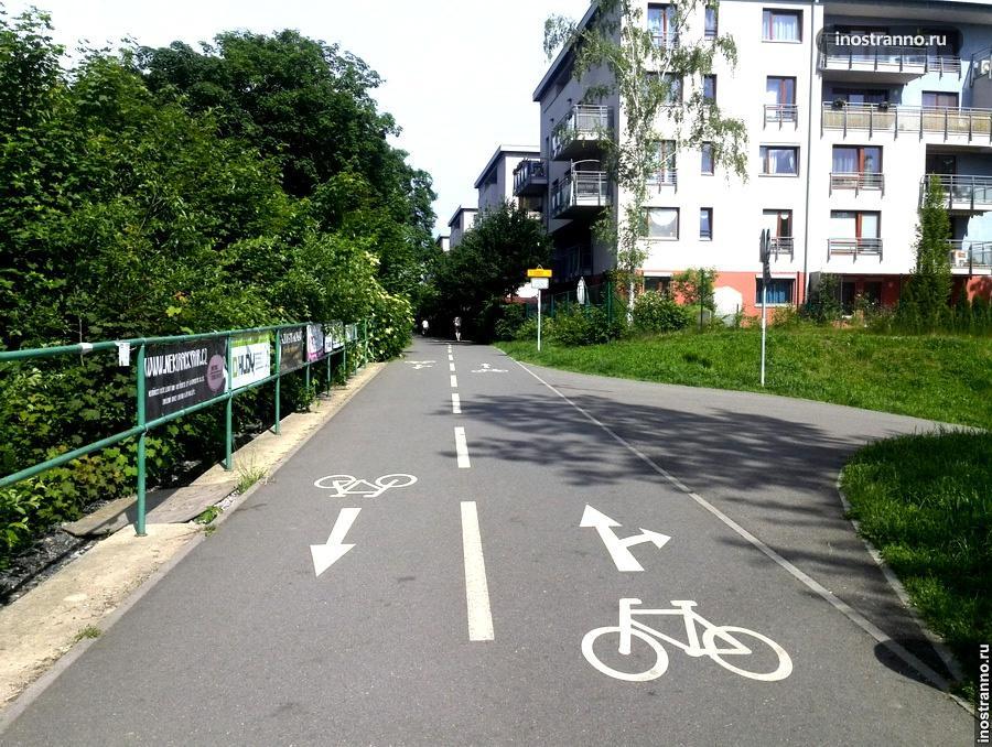 велосипедная дорожка в Чехии
