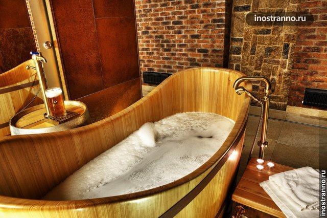 Пивные ванны в городе Плзень
