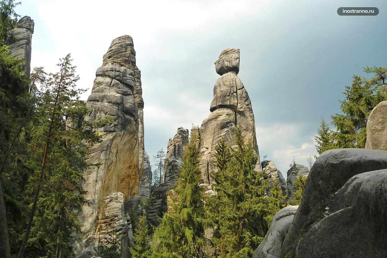 Скалы Ардшпах-Теплице куда съездить из Праги