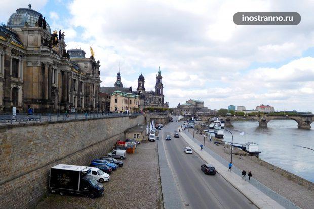 Терраса Брюля в Дрездене
