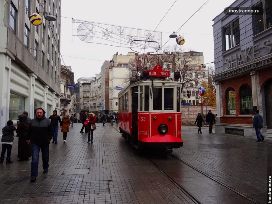 ностальгический трамвай в стамбуле